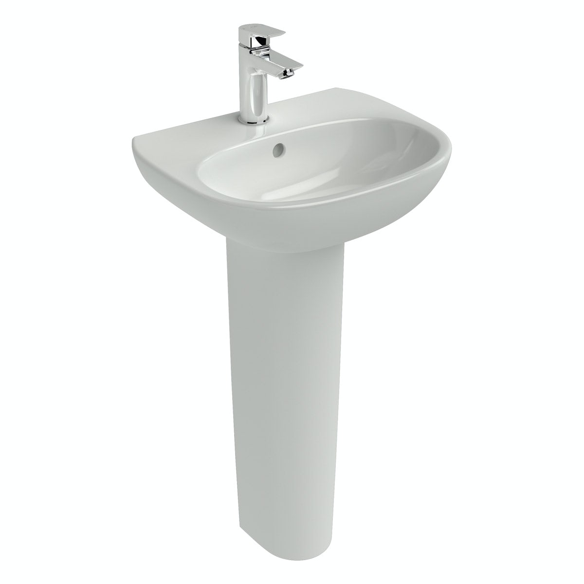 Ideal Standard Tesi 1 tap hole full pedestal basin 450mm