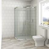 Mode Harrison 8mm left handed offset quadrant shower enclosure 900 x 760
