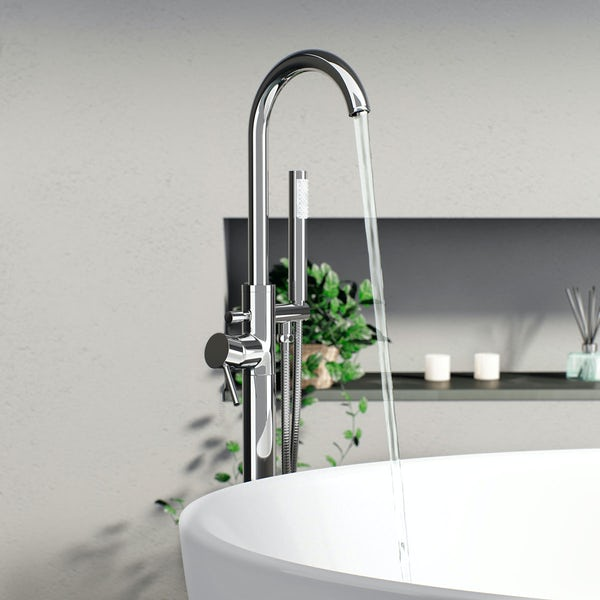 Mode Arte complete bathroom suite with Arte freestanding bath and taps
