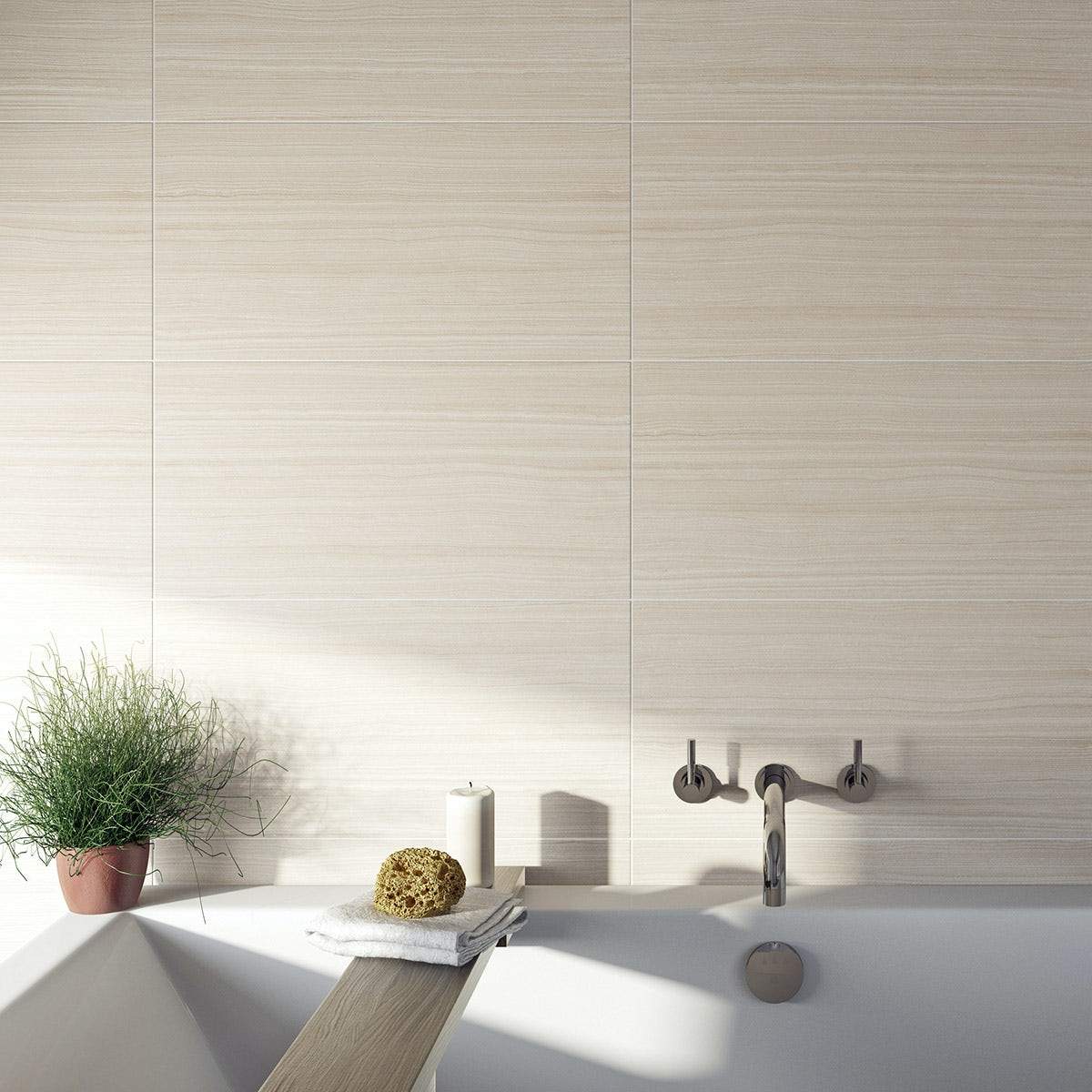 British Ceramic Tile Mirage beige gloss tile 298mm x 598mm - Sold by Victoria Plum