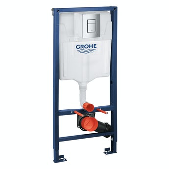Grohe Rapid SL Set 3 in 1 wall mounting frame with square button Skate Cosmopolitan push plate 1.13m