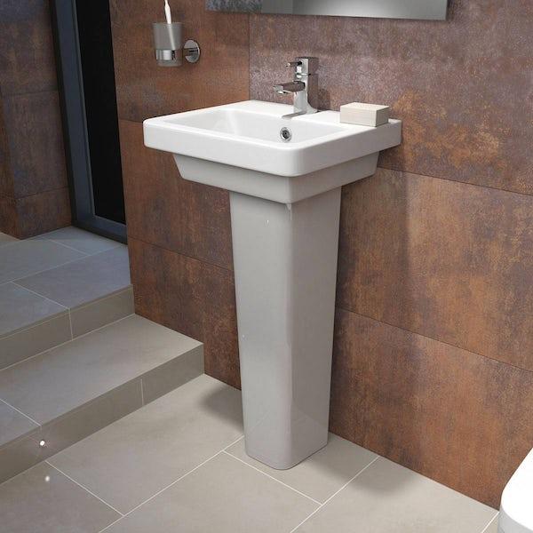 Cooper 1TH 400mm Basin & Pedestal