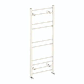 Clarity white heated towel rail 1200 x 500 offer pack