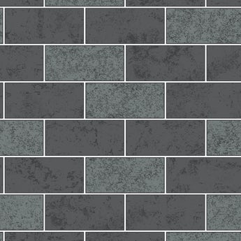 Fine Decor ceramica subway glitter tile black grey wallpaper