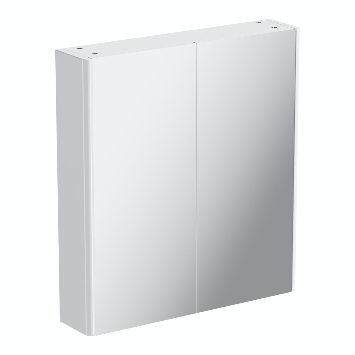 600mm white curved mirror cabinet