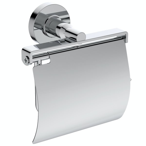 Ideal Standard IOM chrome toilet roll holder with cover