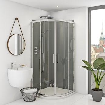Zenolite plus ash acrylic shower wall panel 2070 x 1000