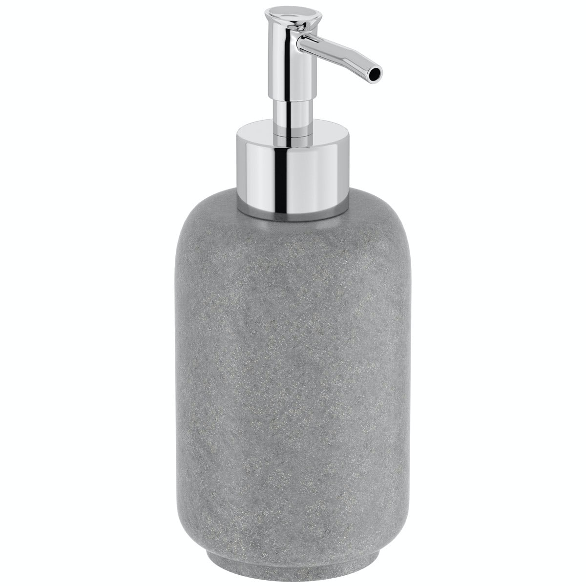 Mineral grey resin soap dispenser
