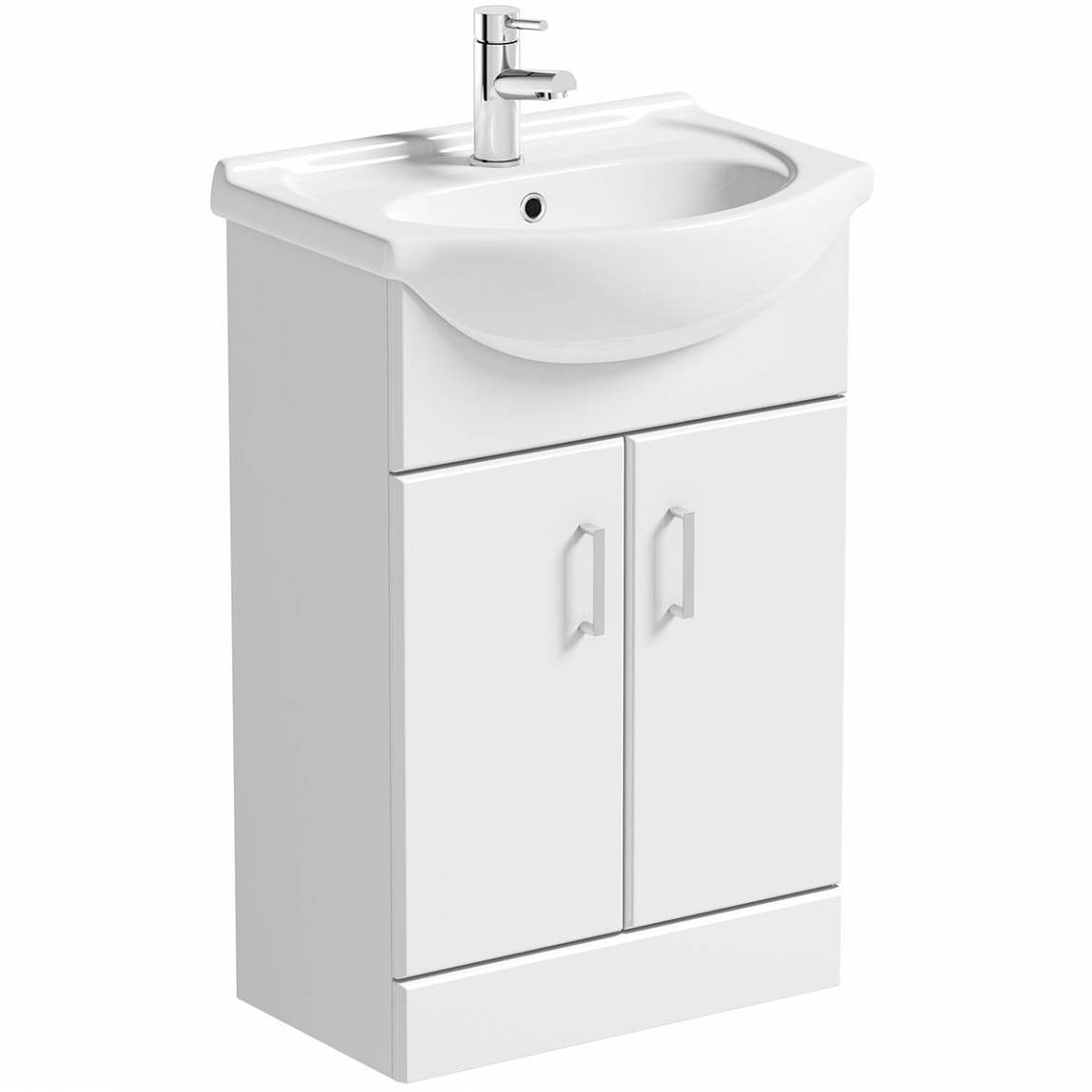 Sienna White Vanity Unit with Basin 550mm | VictoriaPlum.com