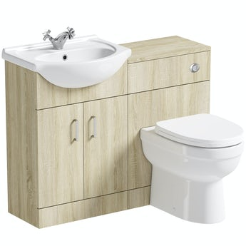 Eden oak 1040 combination with back to wall toilet and seat
