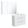 Orchard Derwent white vanity unit 900mm with mirror