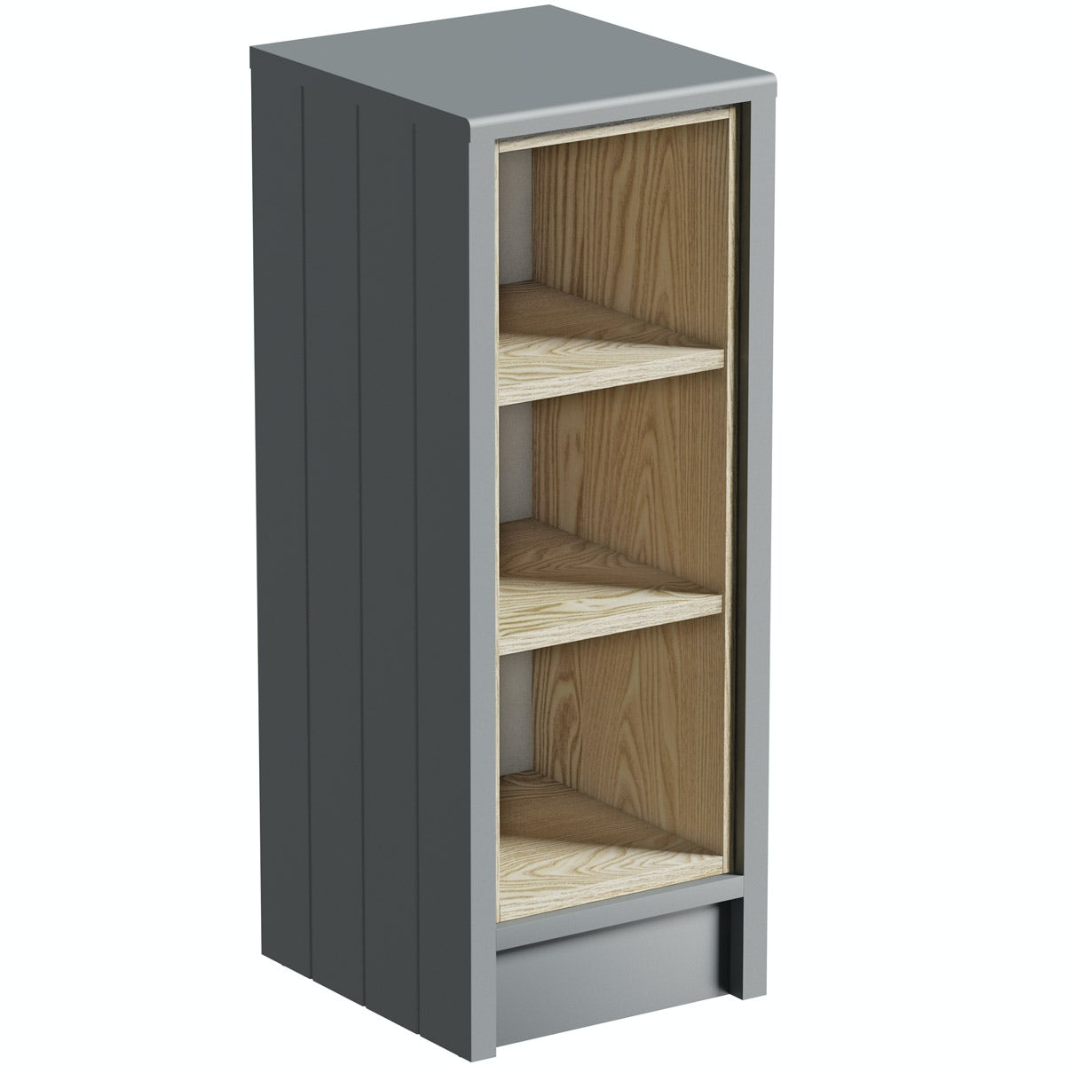 The Bath Co. Dulwich stone grey open storage unit
