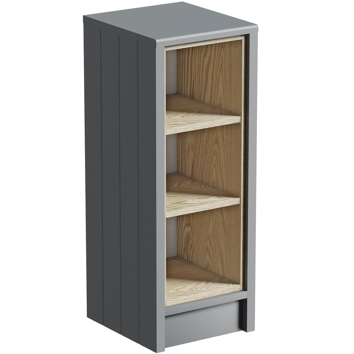 The Bath Co. Dulwich stone grey open storage unit