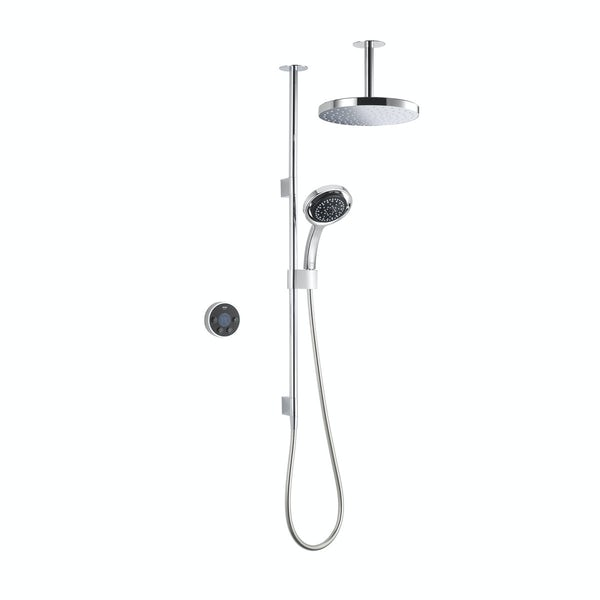 Mira Platinum dual ceiling fed digital shower pumped