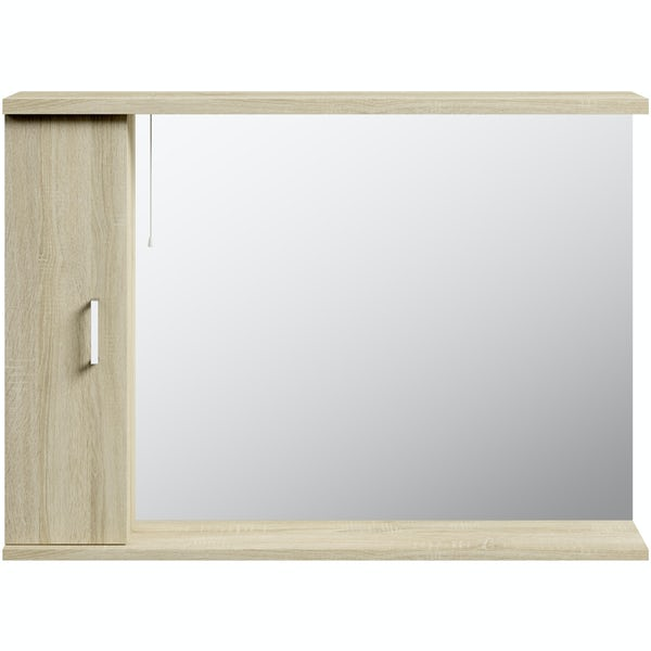 Eden oak illuminated mirror 1050mm