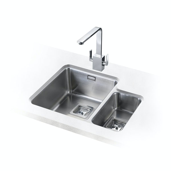 Rangemaster Kitchen Sinks Rangemaster atlantic quad 15 bowl undermount right handed kitchen no image rangemaster atlantic quad 15 bowl undermount right handed kitchen sink with waste workwithnaturefo