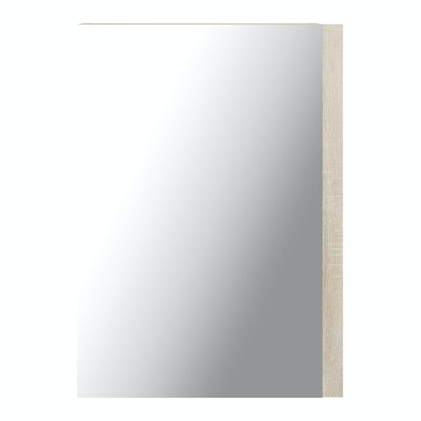 Wye oak mirror cabinet