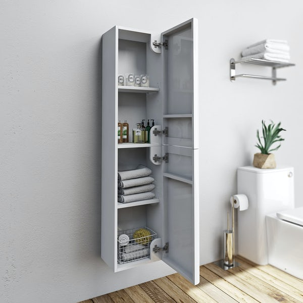 Mode Ellis white wall hung cabinet