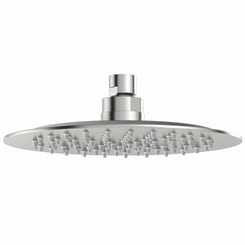 Brushed stainless steel waifer shower head round 200mm