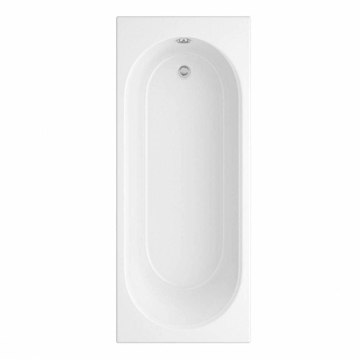 Orchard round edge single ended straight bath offer pack