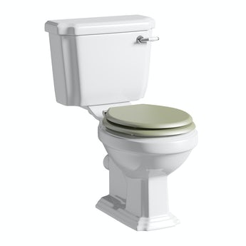 The Bath Co. Dulwich close coupled toilet inc sage soft close seat with pan connector