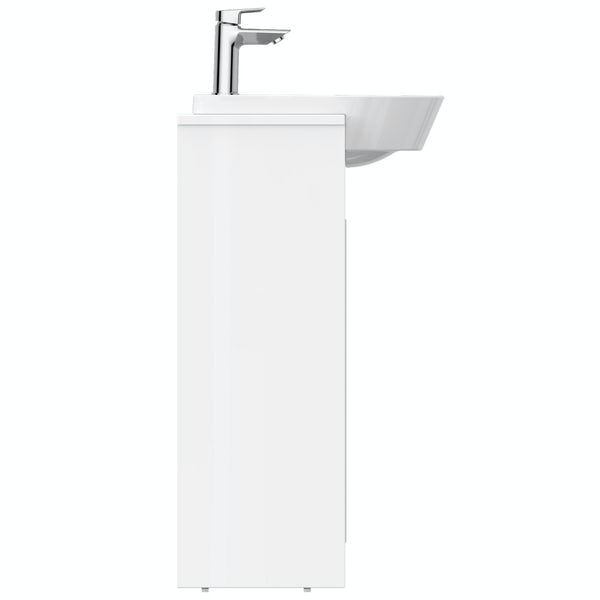 Ideal Standard Concept Air gloss and matt white wall hung vanity unit and recessed basin 600mm