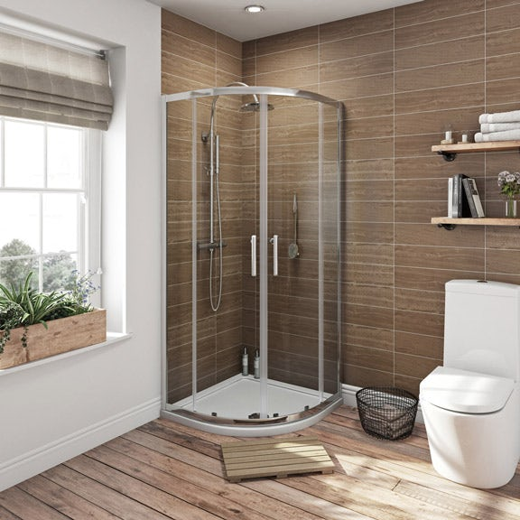 How Much To Have A Bathroom Fitted: Orchard 6mm Sliding Quadrant Shower Enclosure
