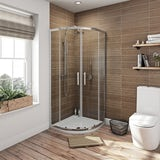 Orchard 6mm sliding quadrant shower enclosure 800 x 800