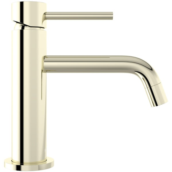 Mode Spencer round gold basin mixer tap offer pack