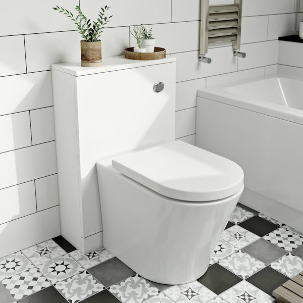 Clarity white back to wall toilet unit