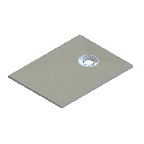 Wet Room Rectangle Tray With End Waste