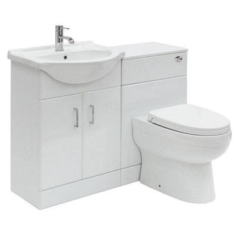 Sienna white 1040 combination unit with Eden back to wall toilet