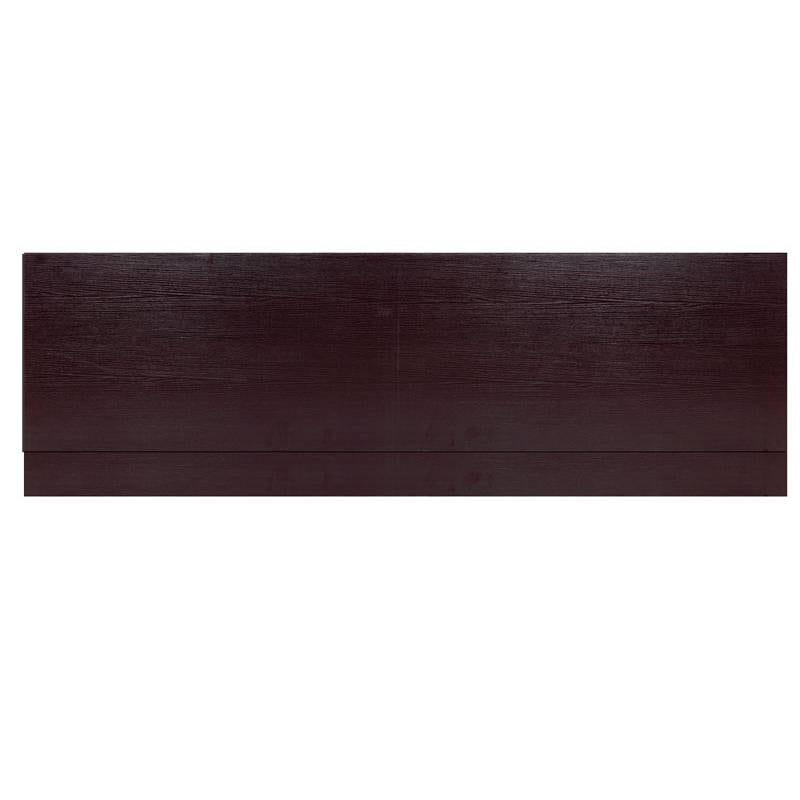 Wenge effect wooden straight bath front panel 1700mm