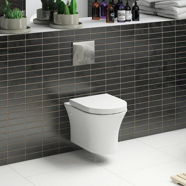 Hardy wall hung toilet inc soft close seat
