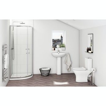 Compact Round quadrant complete bathroom package