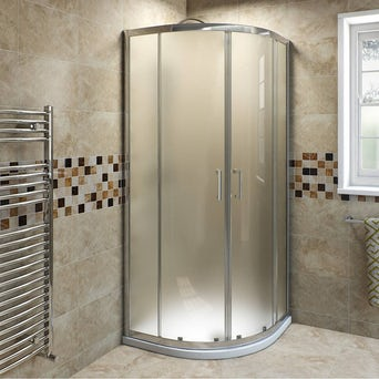 6mm Frosted Glass Quadrant Shower Enclosure 900