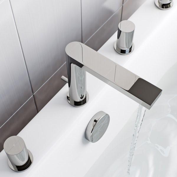 Mode Heath 4 hole bath shower mixer tap offer pack