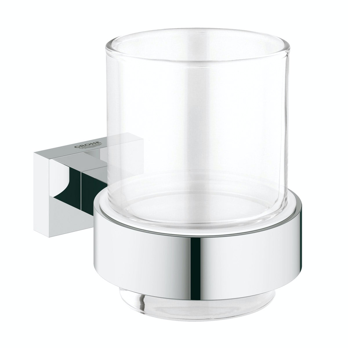 Grohe Essentials Cube tumbler and holder