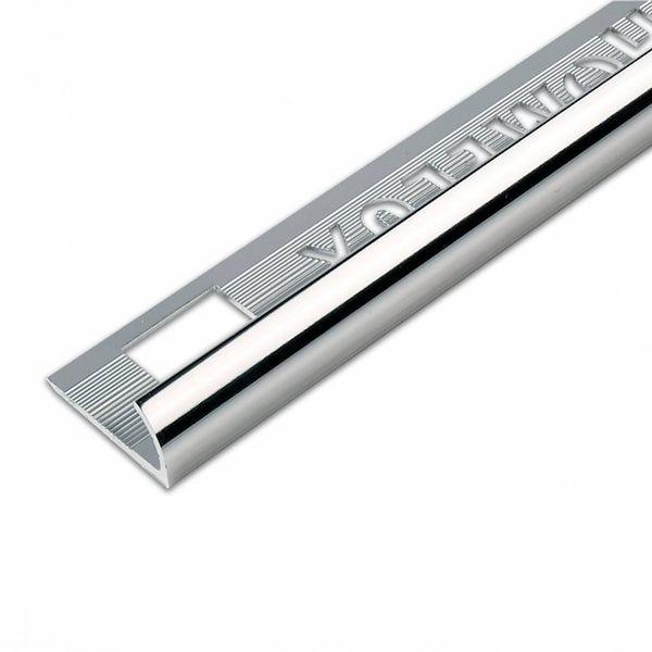 Aluminium Silver Effect Tile Trim 12.5mm