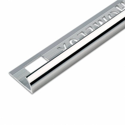 Aluminium Silver Effect Tile Trim 12.5mm