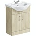 Eden oak vanity unit and basin 650mm