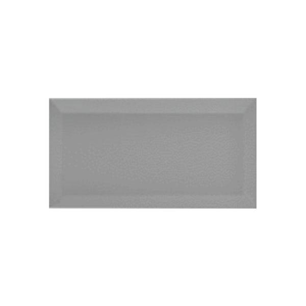 British Ceramic Tile Metro bevel grey gloss tile 100mm x 200mm