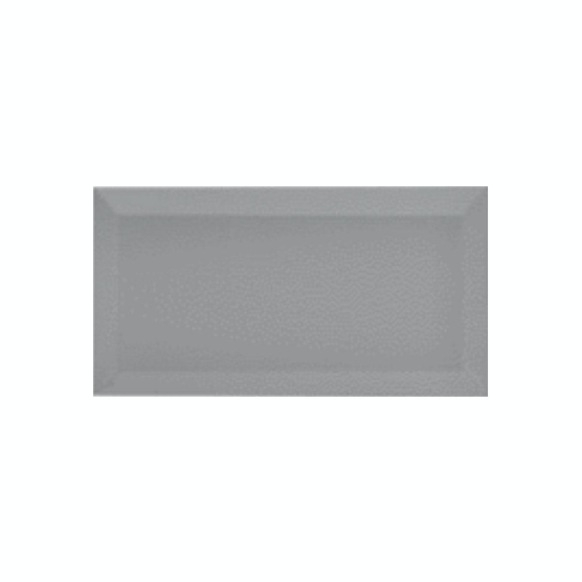 British Ceramic Tile Metro Bevel Grey Gloss Tile 100mm X