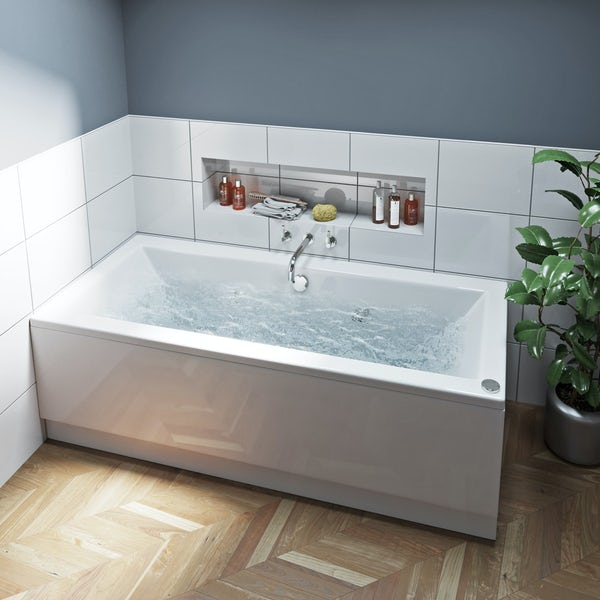 Mode Chelsea double end 12 jet whirlpool bath 1700 x 750 ...