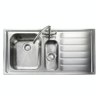 Rangemaster Manhattan 1 bowl right handed kitchen sink with waste kit
