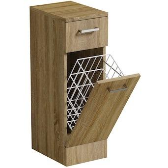 Sienna Oak Linen Basket 330 Special Offer
