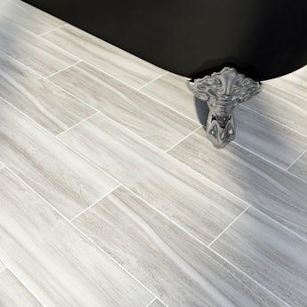 Bark ash wood effect grey matt tile 148mm x 498mm