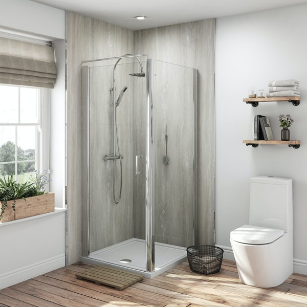 Multipanel Classic Jupiter Silver unlipped shower wall panel 2400 x 1200