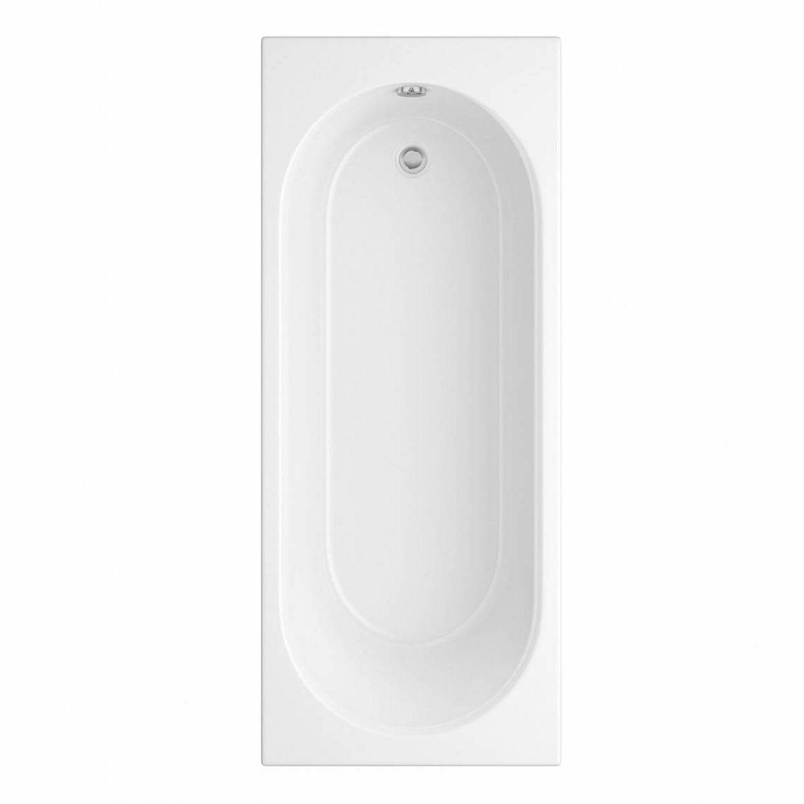 Orchard round edge single ended straight bath 1700 x 700 with acrylic front panel