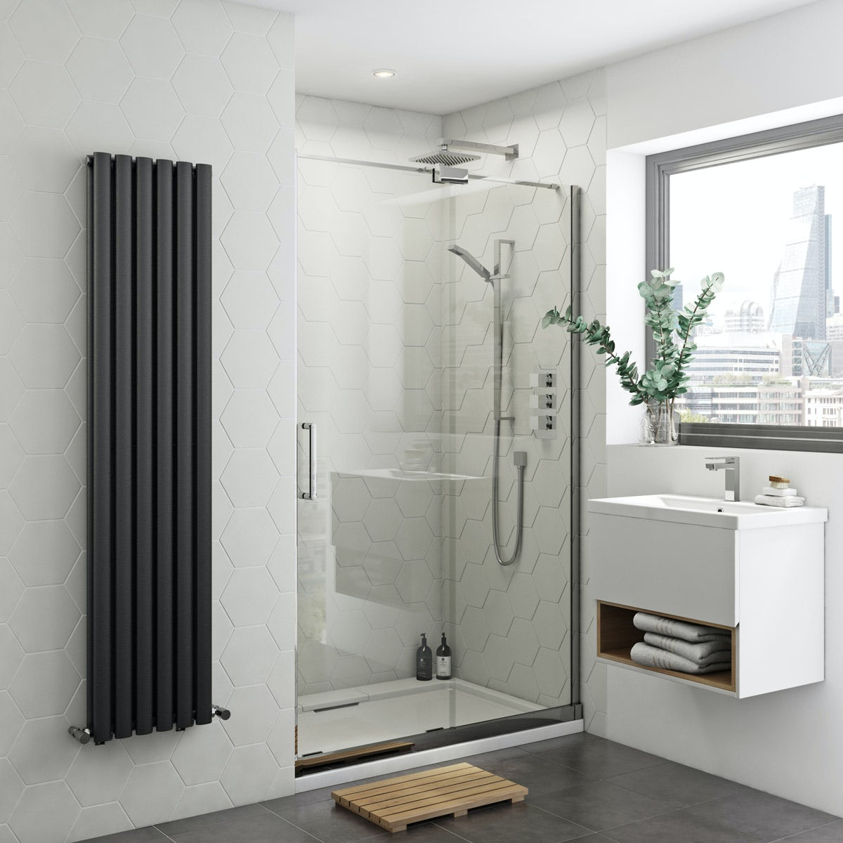 Mode Ellis 8mm easy clean right handed frameless sliding shower door